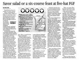 Ashby Award Article Food Glorious Food Tallahassee