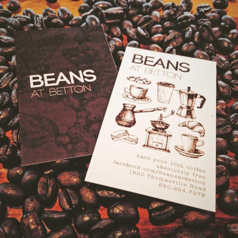Customer Cards at Beans at Betton Tallahassee